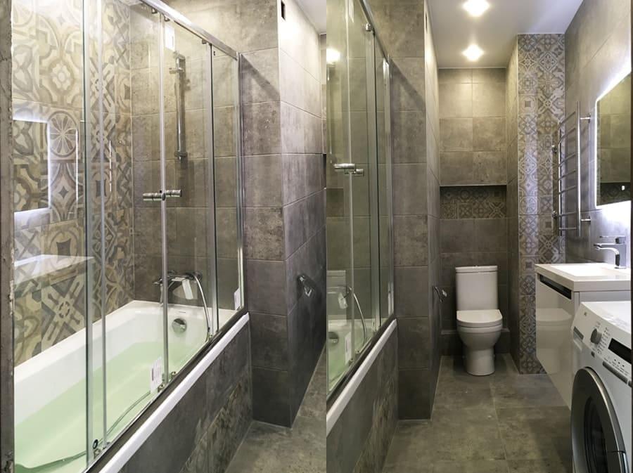 Совмещенная ванная комната и санузел