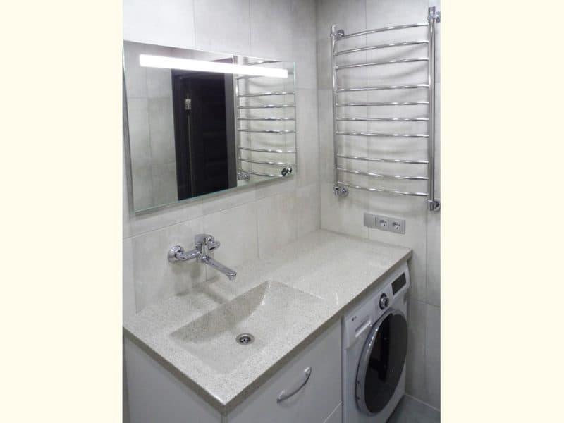 Недорогой ремонт в ванных комнатах