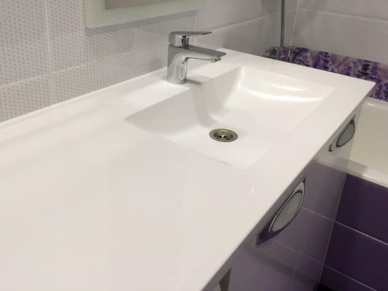 Качественная столешница в ванную